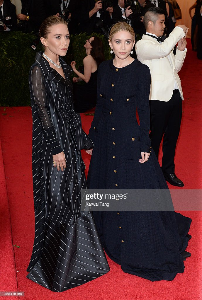 Ashley Olsen and Mary Kate Olsen attend the 'Charles James: Beyond Fashion' Costume Institute Gala held at the Metropolitan Museum of Art on May 5, 2014 in New York City.