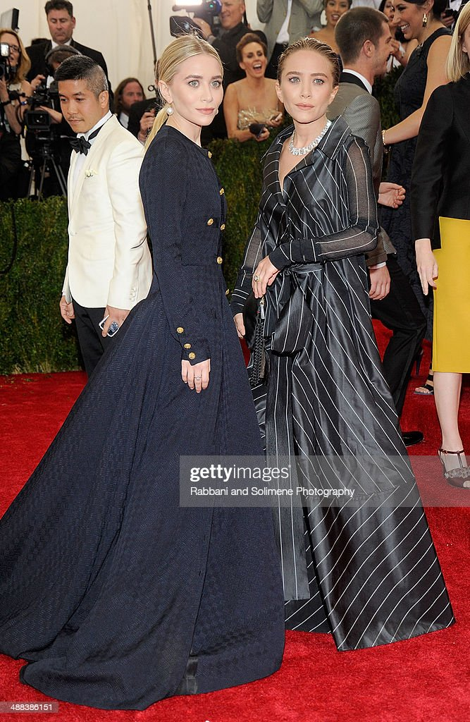 Ashley Olsen and Mary Kate Olsen attends the 'Charles James: Beyond Fashion' Costume Institute Gala at the Metropolitan Museum of Art on May 5, 2014 in New York City.