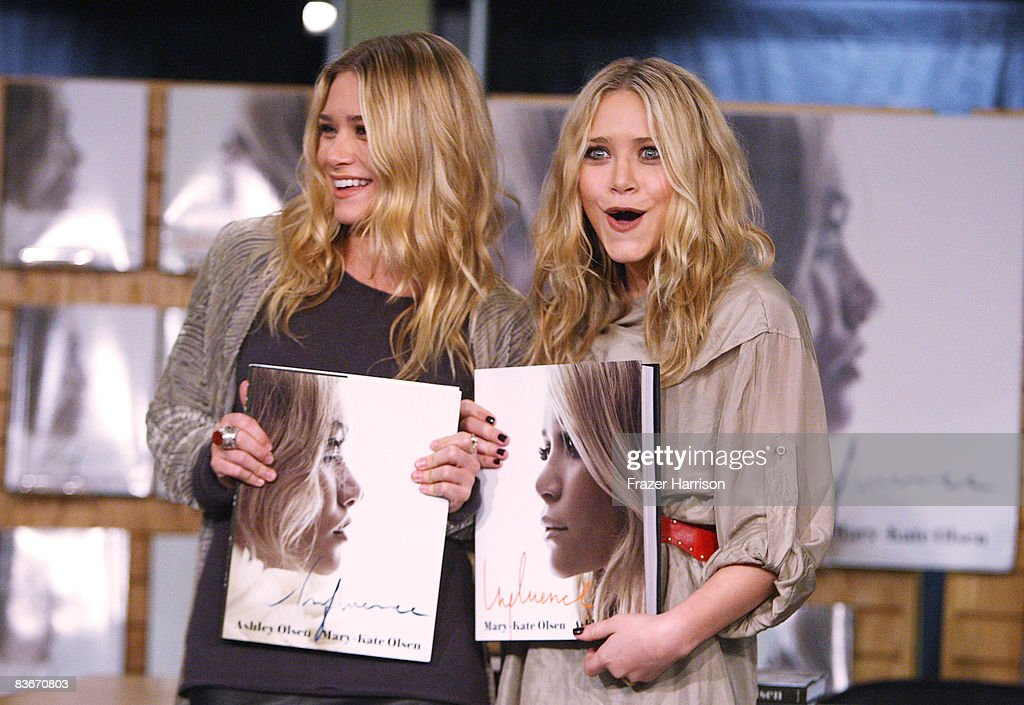 Ashley Olsen and Mary Kate Olsen, who attended a book signing session for 'Influence' on Novenber 12, 2008 at Borders books store in Westwood, California.