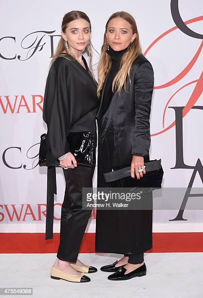 Ashley Olsen and MaryKate Olsen attend the 2015 CFDA Fashion Awards at Alice Tully Hall at Lincoln Center on June 1 2015 in New York City