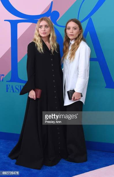 Ashley Olsen and MaryKate Olsen attend the 2017 CFDA Fashion Awards at Hammerstein Ballroom on June 5 2017 in New York City