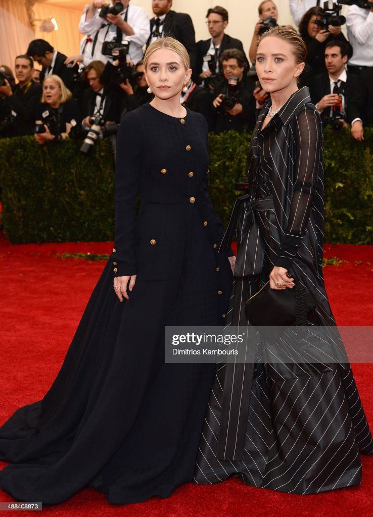Ashley Olsen and Mary-Kate Olsen attend the 'Charles James: Beyond Fashion' Costume Institute Gala at the Metropolitan Museum of Art on May 5, 2014 in New York City.