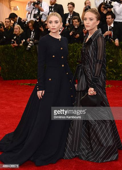 Ashley Olsen and MaryKate Olsen attend the 'Charles James Beyond Fashion' Costume Institute Gala at the Metropolitan Museum of Art on May 5 2014 in...
