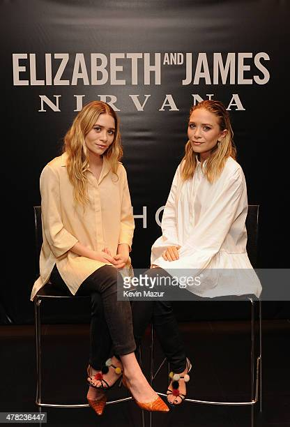 Ashley Olsen and MaryKate Olsen attend the Elizabeth and James SEPHORA VIB ROUGE Event on March 12 2014 in New York City