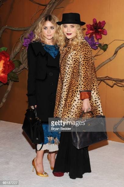 Ashley Olsen and MaryKate Olsen attend 'The Museum of Modern Art Film Benefit A Tribute To Tim Burton' at The Museum of Modern Art on November 17...
