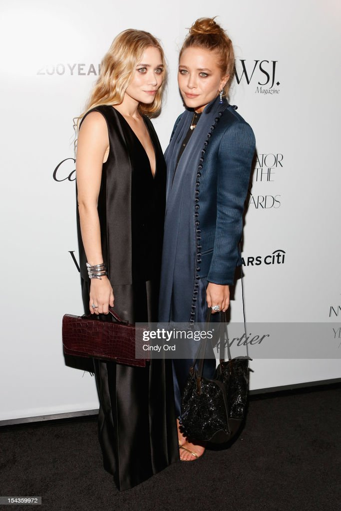 Ashley Olsen and Mary-Kate Olsen attend WSJ. Magazine's 'Innovator Of The Year' Awards at MOMA on October 18, 2012 in New York City.
