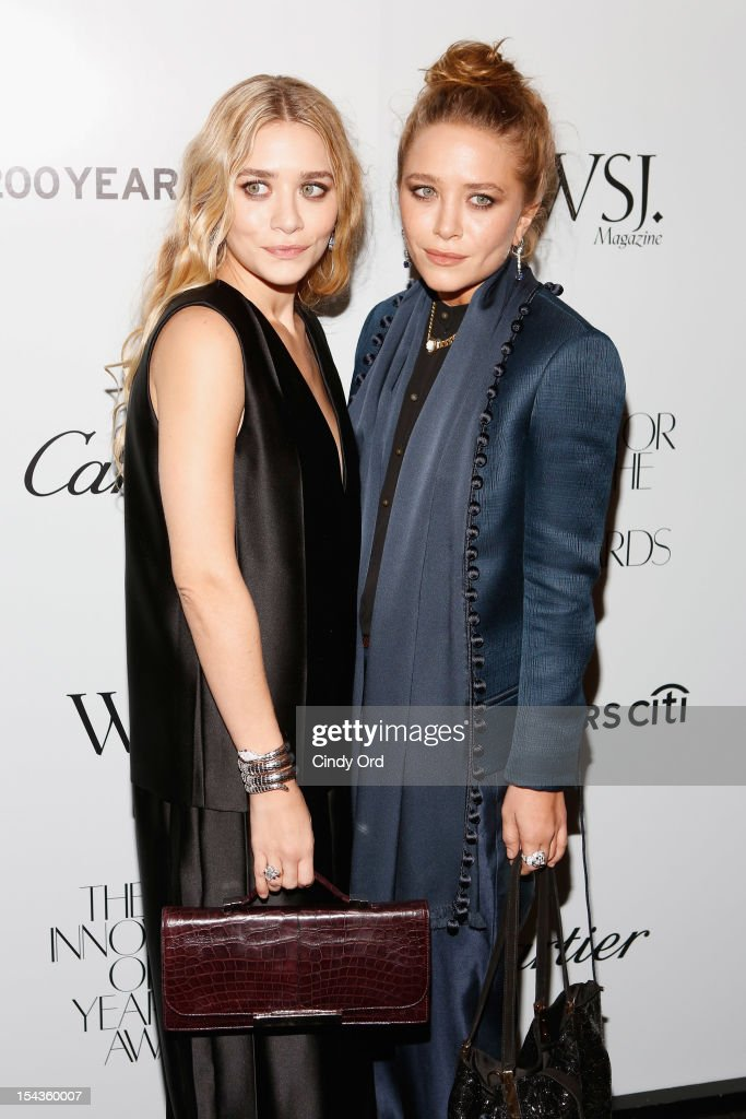 <a gi-track='captionPersonalityLinkClicked' href=/galleries/search?phrase=Ashley+Olsen&family=editorial&specificpeople=156429 ng-click='$event.stopPropagation()'>Ashley Olsen</a> and <a gi-track='captionPersonalityLinkClicked' href=/galleries/search?phrase=Mary-Kate+Olsen&family=editorial&specificpeople=156430 ng-click='$event.stopPropagation()'>Mary-Kate Olsen</a> attend WSJ. Magazine's 'Innovator Of The Year' Awards at MOMA on October 18, 2012 in New York City.