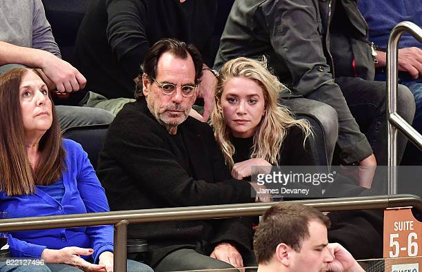 Ashley Olsen and Richard Sachs attend New York Knicks vs Brooklyn Nets game at Madison Square Garden on November 9 2016 in New York City