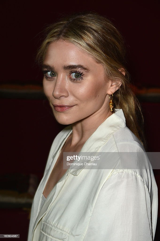 <a gi-track='captionPersonalityLinkClicked' href=/galleries/search?phrase=Ashley+Olsen&family=editorial&specificpeople=156429 ng-click='$event.stopPropagation()'>Ashley Olsen</a> attends the H&M Fashion Show Fall/Winter 2013 Ready-to-Wear show as part of Paris Fashion Week on February 27, 2013 in Paris, France.