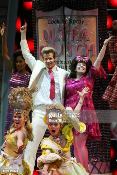 Ashley Parker Angel and cast during Behind The Scenes with Ashley Parker Angel as he joins 'Hairspray' on Broadway at The Neil Simon Theatre in New...
