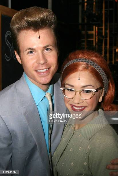 Ashley Parker Angel and Diana DeGarmo during Behind The Scenes with Ashley Parker Angel as he joins 'Hairspray' on Broadway at The Neil Simon Theatre...