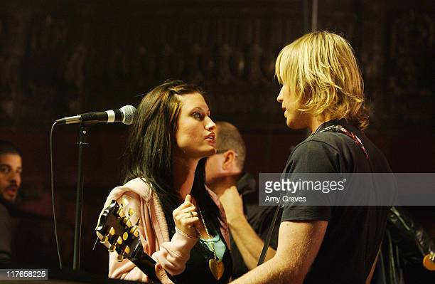 Ashley Parker Angel and girlfriend Tiffany on the set of the 'Let You Go' video shoot