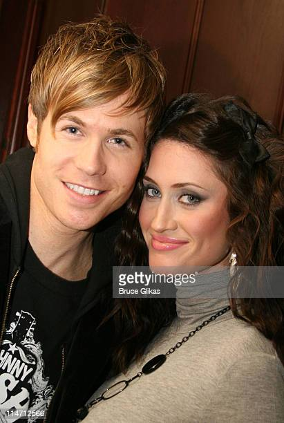Ashley Parker Angel and wife Tiffany Lynn during Alexa Vega and Ashley Parker Angel 'Hairspray' Opening Night Party and Bows at The Neil Simon...