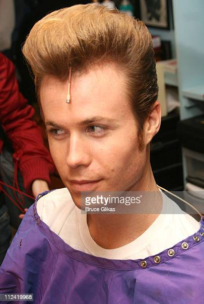 Ashley Parker Angel during Behind The Scenes with Ashley Parker Angel as he joins 'Hairspray' on Broadway at The Neil Simon Theatre in New York City...