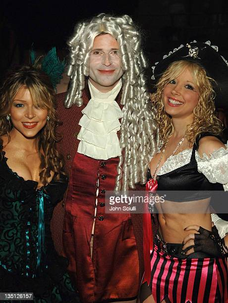 Ashley Peldon Crispin Glover and Courtney Peldon during igotpokercom Hosts Haylie Duff's 2nd Annual Halloween Party October 30 2005 at Henson Studios...