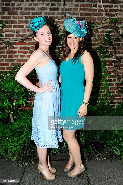 Ashley Puscas and Marilyn DuffyCabana attend Historic Royal Palaces Patrons Secret Garden Party at Merchant's House Museum on May 24 2016 in New York...
