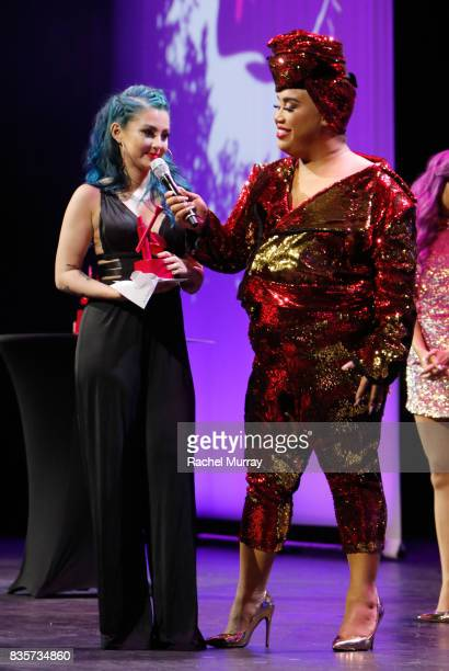 Ashley Quiroz and Patrick Starrr at the 2017 NYX Professional Makeup FACE Awards at The Shrine Auditorium on August 19 2017 in Los Angeles California