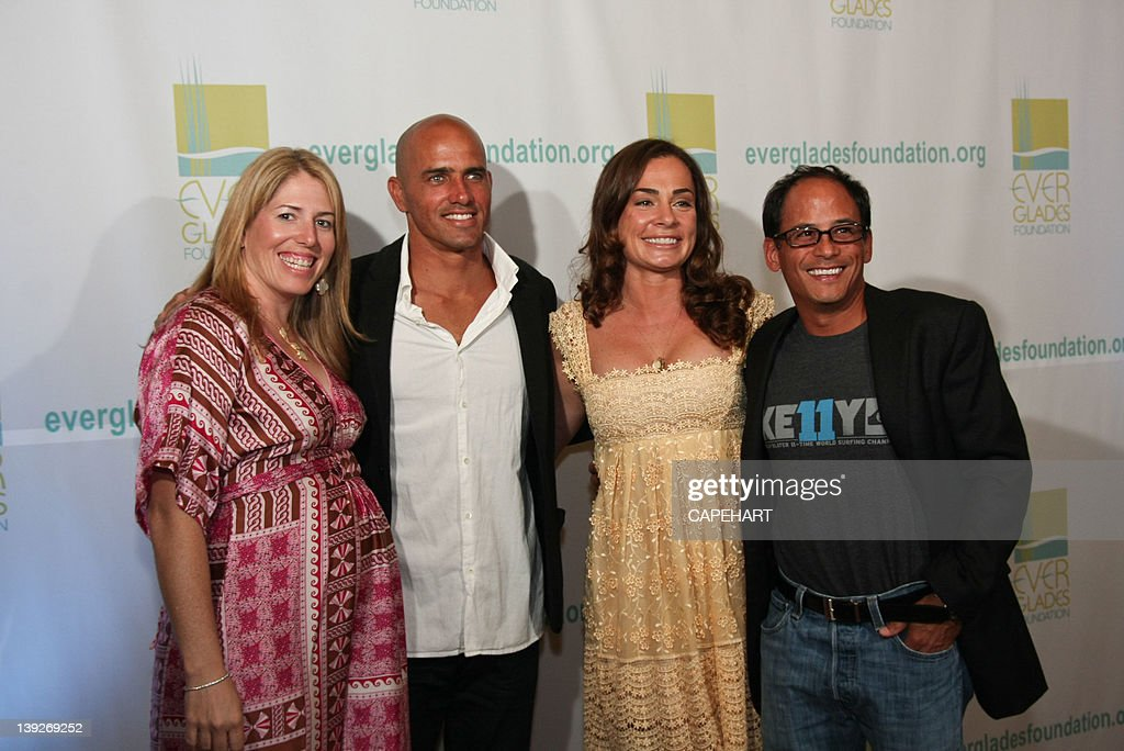 Ashley Ramos, <a gi-track='captionPersonalityLinkClicked' href=/galleries/search?phrase=Kelly+Slater&family=editorial&specificpeople=207101 ng-click='$event.stopPropagation()'>Kelly Slater</a>, Savannah Buffet and Mike Ramos attend the 7th Annual Everglades Foundation Gala at The Breakers on February 17, 2012 in Palm Beach, Florida.