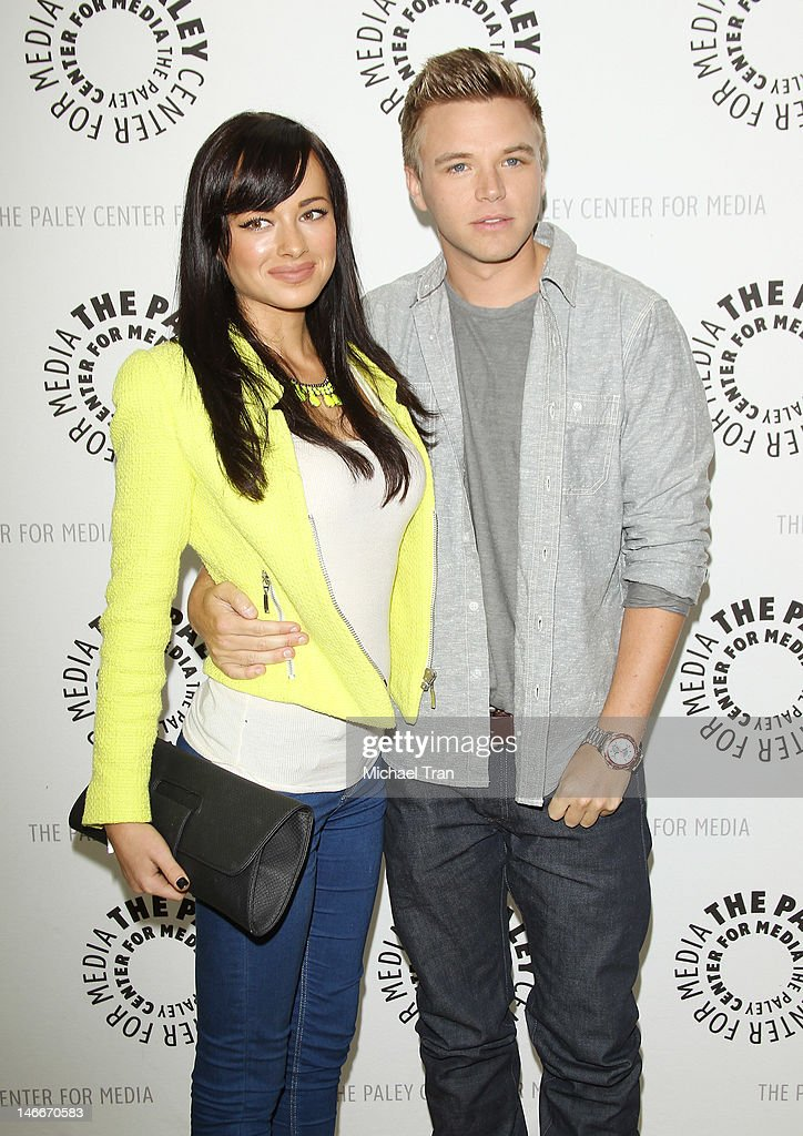 <a gi-track='captionPersonalityLinkClicked' href=/galleries/search?phrase=Ashley+Rickards&family=editorial&specificpeople=5056458 ng-click='$event.stopPropagation()'>Ashley Rickards</a> (L) and Brett Davern arrive at season 2 premiere screening of MTV's comedy series 'Awkward' held at The Paley Center for Media on June 21, 2012 in Beverly Hills, California.