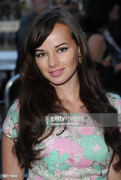 Ashley Rickards arrives at the Los Angeles premiere of 'The Perfect Game' in the Pacific Theaters at the Grove on April 5 2010 in Los Angeles...