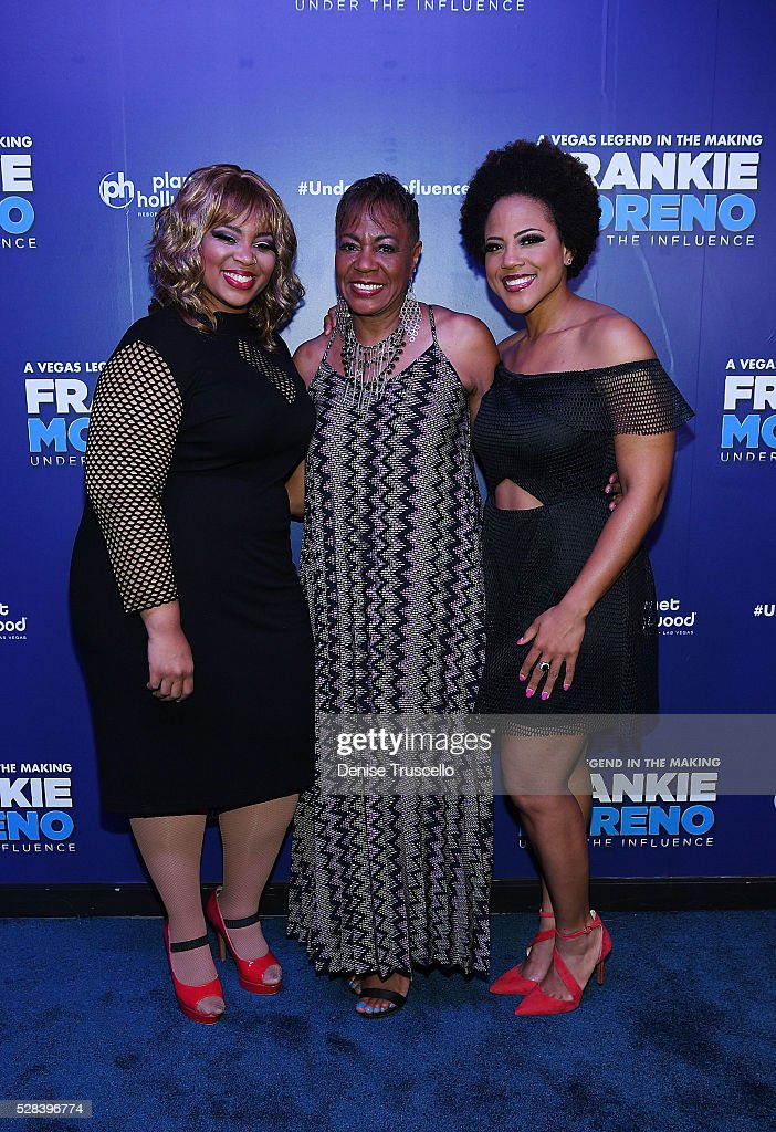 Ashley Roberson Dolly Hawkins and Crystal Robinson arrive at the opening night of Frankie Moreno��s new show�� �� Under The Influence at Planet...