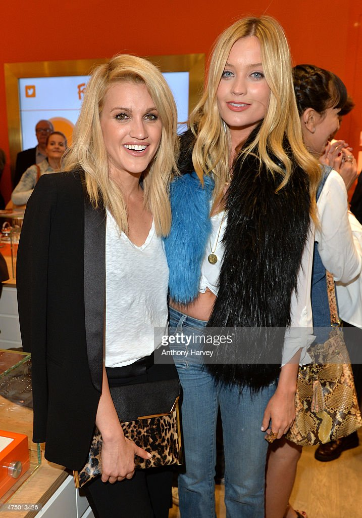 Ashley Roberts and Laura Whitmore attend the launch of the New Folli Follie Flagship Store on Oxford Street on May 28 2015 in London England