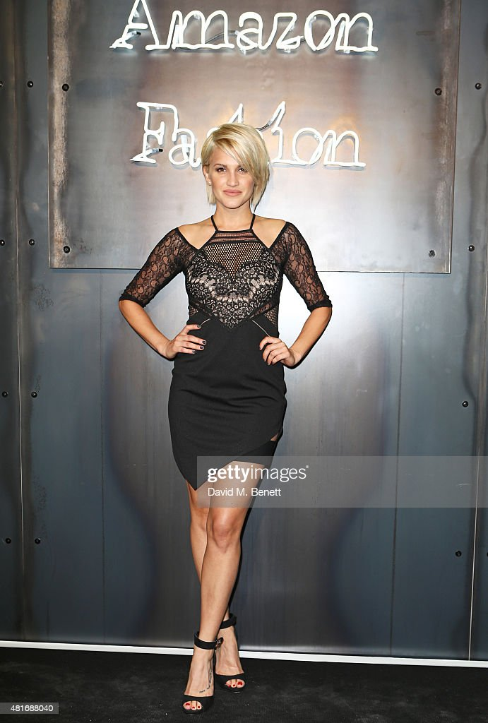 Ashley Roberts arrives at the Amazon Fashion Photography Studio launch party which opened on July 23 2015 in London England Guest of honour was Suki...