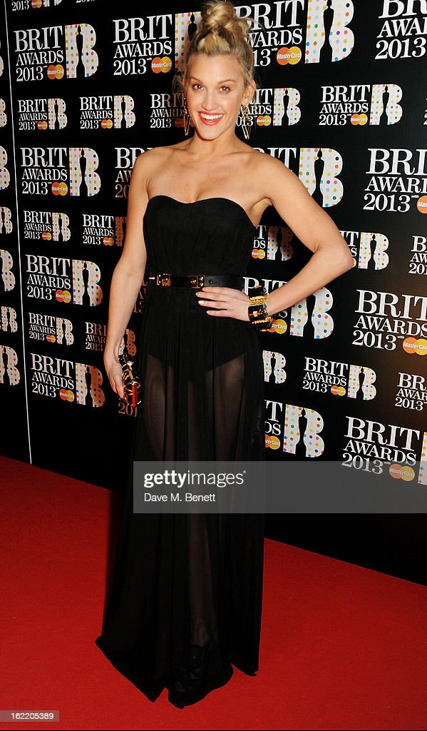 Ashley Roberts arrives at the BRIT Awards 2013 at the O2 Arena on February 20, 2013 in London, England.