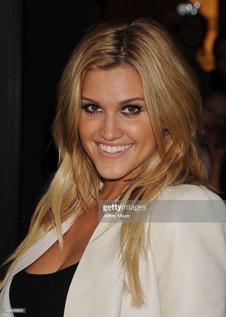 Ashley Roberts arrives at the Hard Rock Cafe Hollywood Grand Opening at Hard Rock Cafe Hollywood on October 21 2010 in Hollywood California
