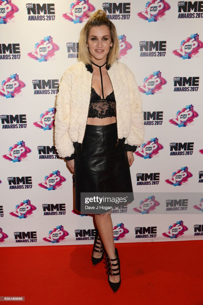 Ashley Roberts arrives at the VO5 NME awards 2017 on February 15, 2017 in London, United Kingdom.