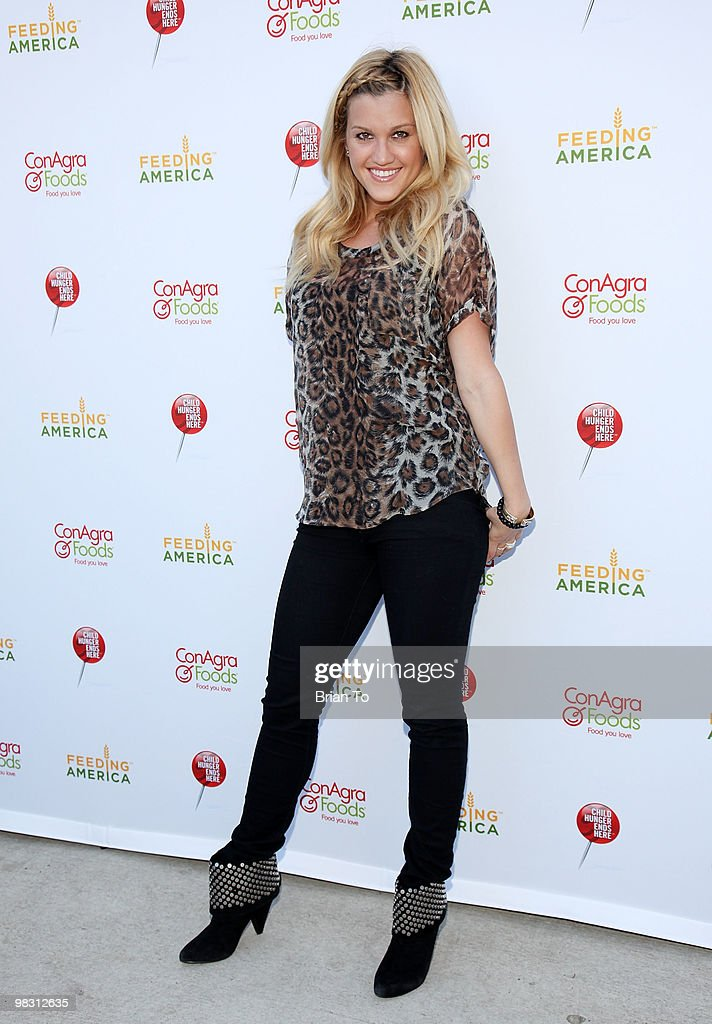 Ashley Roberts attends 'Child Hunger Ends Here' neighborhood celebrity rally on Wisteria Lane at NBC Universal lot on April 7 2010 in Universal City...