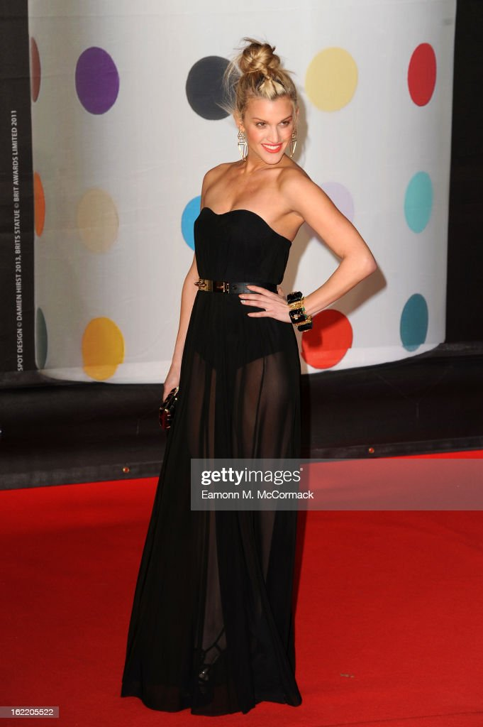 Ashley Roberts attends the Brit Awards 2013 at the 02 Arena on February 20, 2013 in London, England.