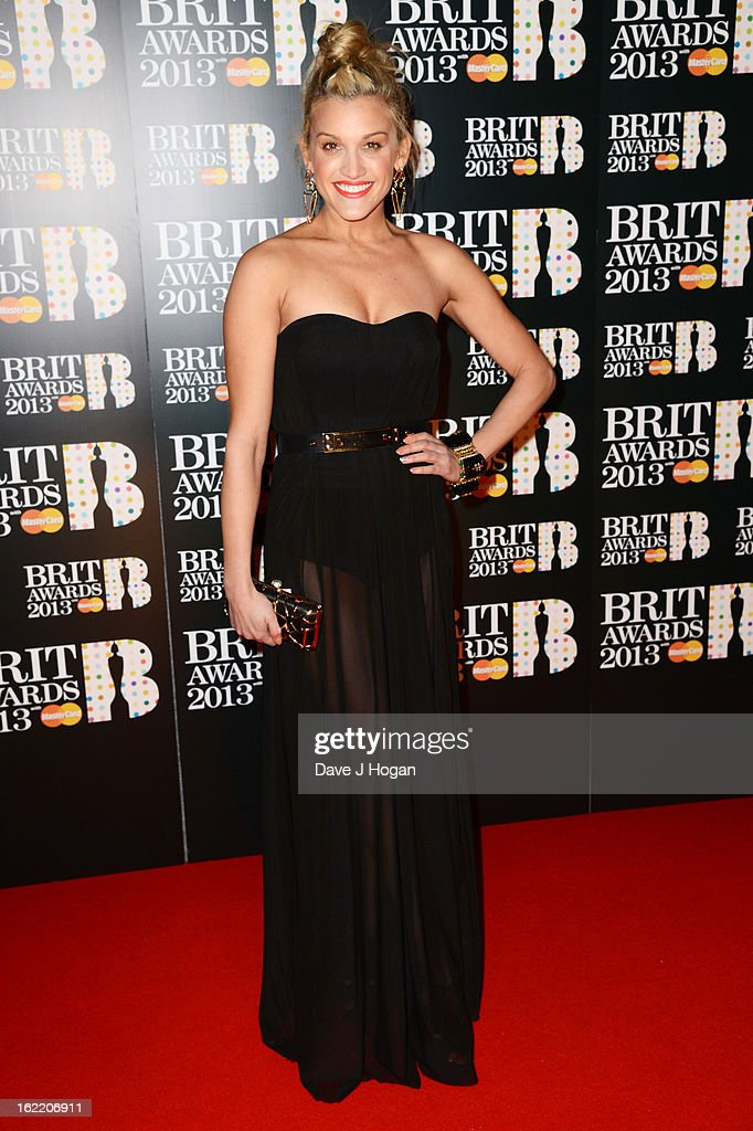 Ashley Roberts attends The Brit Awards 2013 at The O2 Arena on February 20, 2013 in London, England.