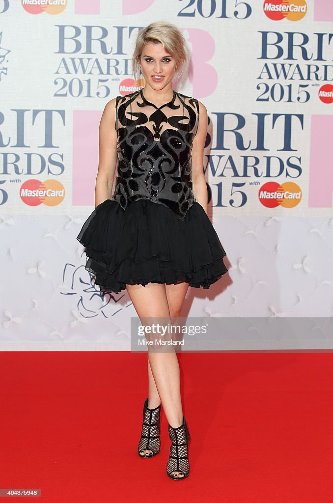 Ashley Roberts attends the BRIT Awards 2015 at The O2 Arena on February 25 2015 in London England
