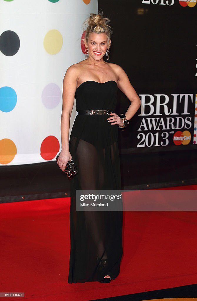 Ashley Roberts attends the Brit Awards at 02 Arena on February 20, 2013 in London, England.