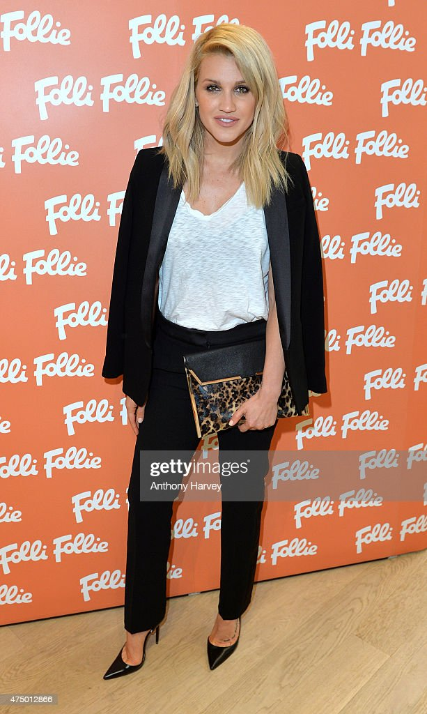 Ashley Roberts attends the launch of the New Folli Follie Flagship Store on Oxford Street on May 28 2015 in London England