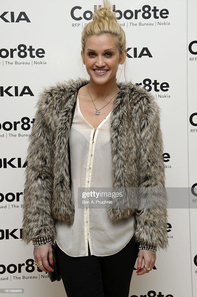 Ashley Roberts attends the premiere of Rankin's Collabor8te connected by NOKIA at Regent Street Cinema on February 12, 2013 in London, England.