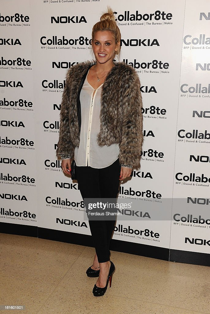 <a gi-track='captionPersonalityLinkClicked' href=/galleries/search?phrase=Ashley+Roberts&family=editorial&specificpeople=678961 ng-click='$event.stopPropagation()'>Ashley Roberts</a> attends the premiere of Rankin's Collabor8te connected by NOKIA at Regent Street Cinema on February 12, 2013 in London, England.