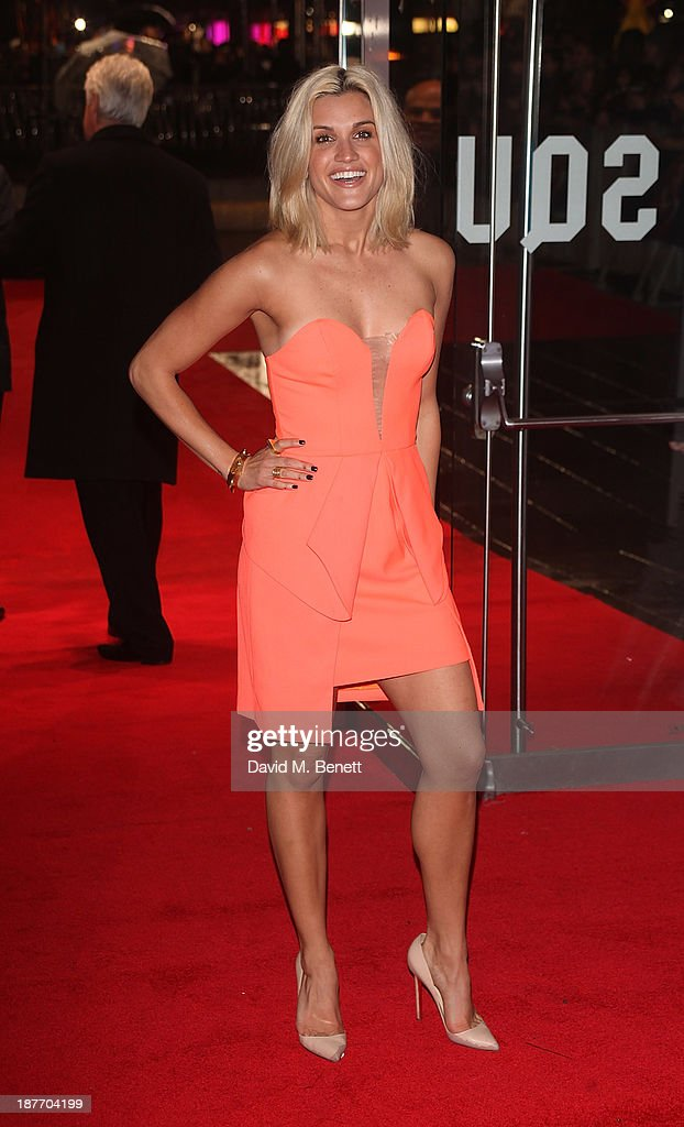 Ashley Roberts attends the UK Premiere of 'The Hunger Games: Catching Fire' at Odeon Leicester Square on November 11, 2013 in London, England.