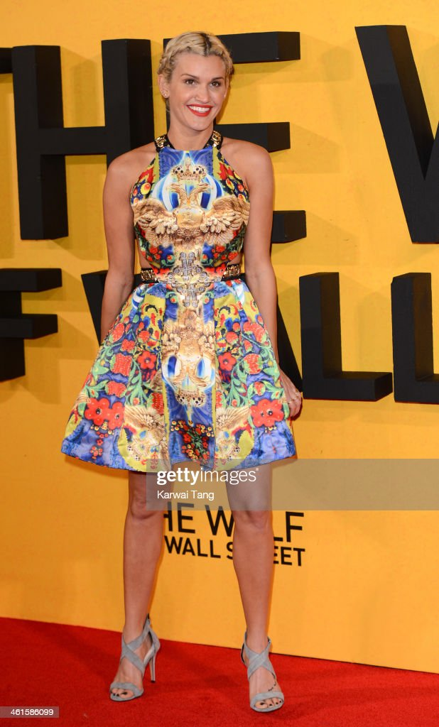 <a gi-track='captionPersonalityLinkClicked' href=/galleries/search?phrase=Ashley+Roberts&family=editorial&specificpeople=678961 ng-click='$event.stopPropagation()'>Ashley Roberts</a> attends the UK Premiere of 'The Wolf Of Wall Street' at the Odeon Leicester Square on January 9, 2014 in London, England.