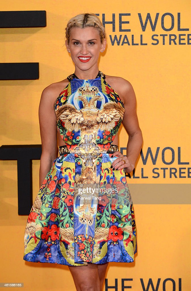 Ashley Roberts attends the UK Premiere of 'The Wolf Of Wall Street' at the Odeon Leicester Square on January 9, 2014 in London, England.