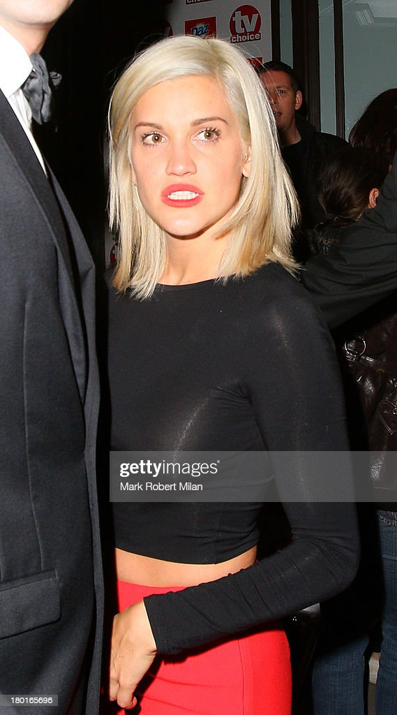 <a gi-track='captionPersonalityLinkClicked' href=/galleries/search?phrase=Ashley+Roberts&family=editorial&specificpeople=678961 ng-click='$event.stopPropagation()'>Ashley Roberts</a> leaving the TV Choice awards ceremony held at the Dorchester hotel on September 9, 2013 in London, England.
