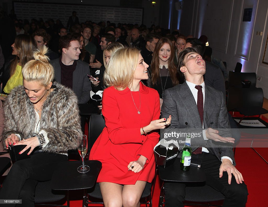 Ashley Roberts, Pixie Lott and Oliver Cheshire attends the Collabor8te Connected by NOKIA Premiere at Regent Street Cinema on February 12, 2013 in London, England.