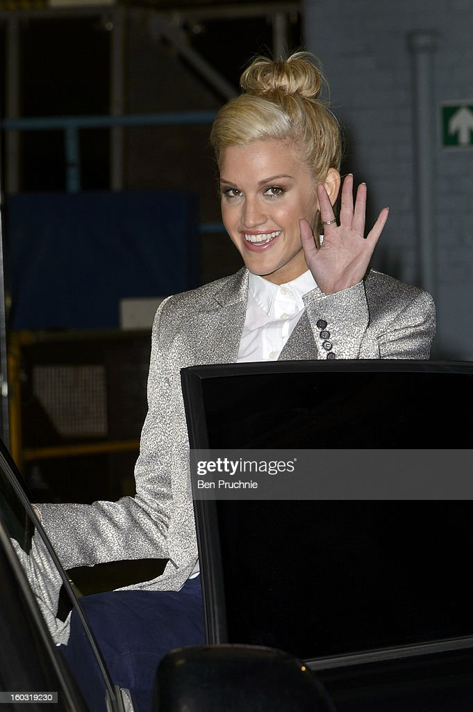 Ashley Roberts sighted departing ITV Studios on January 29, 2013 in London, England.
