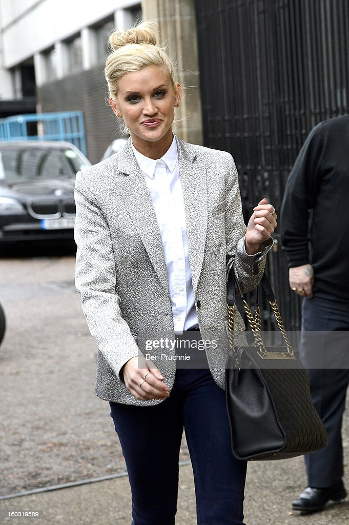 <a gi-track='captionPersonalityLinkClicked' href=/galleries/search?phrase=Ashley+Roberts&family=editorial&specificpeople=678961 ng-click='$event.stopPropagation()'>Ashley Roberts</a> sighted departing ITV Studios on January 29, 2013 in London, England.