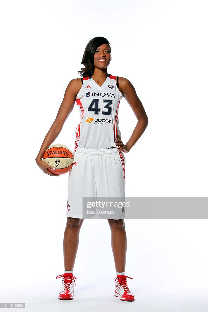 <a gi-track='captionPersonalityLinkClicked' href=/galleries/search?phrase=Ashley+Robinson&family=editorial&specificpeople=220458 ng-click='$event.stopPropagation()'>Ashley Robinson</a> #43 of the Washington Mystics poses for a photo during 2012 Washington Mystics media day on May 8, 2012 in Washington D.C.