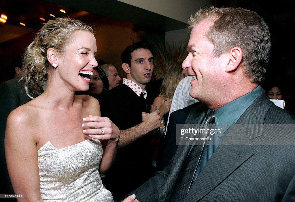 <a gi-track='captionPersonalityLinkClicked' href=/galleries/search?phrase=Ashley+Scott&family=editorial&specificpeople=210735 ng-click='$event.stopPropagation()'>Ashley Scott</a> and Dan Taylor of MGM during MGM Pictures and Columbia Pictures 'Into the Blue' Premiere - After Party at Napa Valley Grill in Westwood, California, United States.