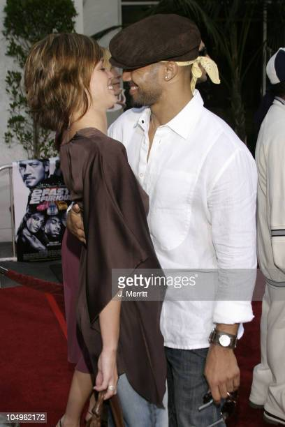 Ashley Scott and Shemar Moore during The World Premiere of '2 Fast 2 Furious' at Universal Amphitheatre in Universal City California United States