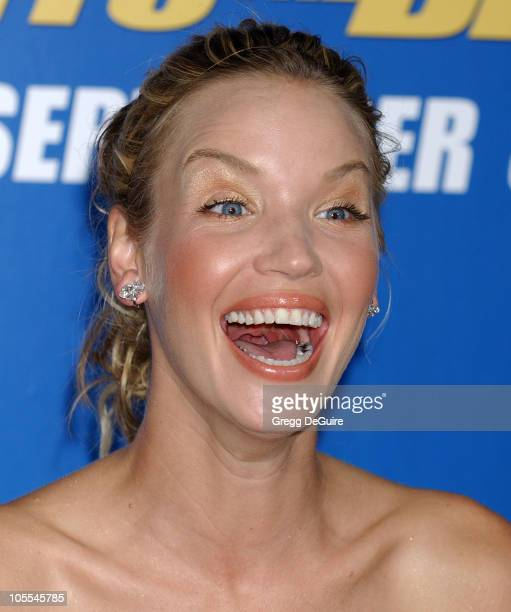 Ashley Scott during MGM Pictures and Columbia Pictures 'Into the Blue' Premiere Arrivals at Mann Village Theatre in Westwood California United States