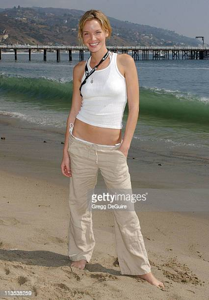 Ashley Scott during The Rip Curl Malibu Pro Hosts 'Celebrity Surf 'Bout' Arrivals at Malibu Surfrider Beach in Malibu California United States